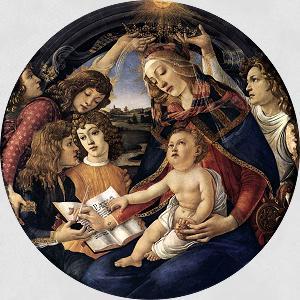 BOTTICELLI, Sandro Madonna del Magnificat (Madonna of the Magnificat) 1480-81
